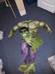 Hulk Costume - Kids size medium