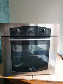 60c Built-in Electric Fan Oven & Stainless Steel Gas Hob Pack