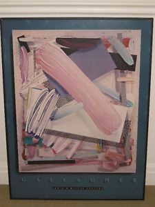 """Gallagher"" Poster - Louis K, Meisel Gallery 1980"
