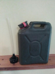 NEW - 20 Liter Military Style Fuel Can with Nozzle Package