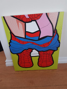 Spiderman stretched canvas print