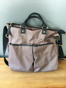 skip hop duo special edition diaper bag herringbone