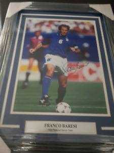 Italy Soccer Football Legend Signed Autographed Framed COA NEW