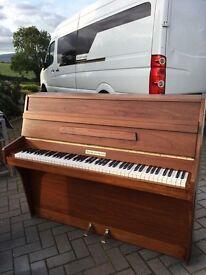 Small modern upright piano by squire & Longson walnut  Belfast pianos.