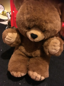 Stuffed cuddly bear for sale. ($15.00, or best offer.)