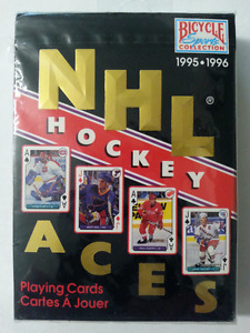 1995-96 Sealed, Bicycle Sports Collection NHL Hockey Aces Cards
