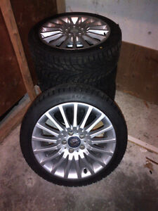 """BRAND NEW WINTER TIRES AND MERCEDES BENZ OEM 17"""" RIMS"""