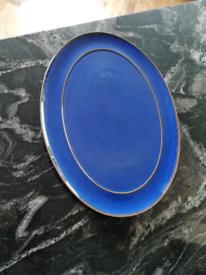 Denby imperial blue serving platter