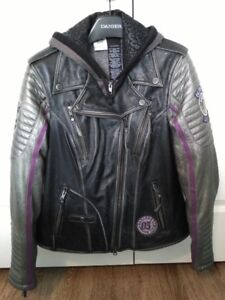 Womens Harley Davidson 2 in 1 Leather Jacket Size L