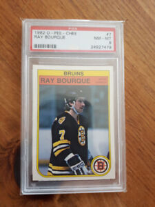CARTE HOCKEY CARD BOURQUE GRADÉ PSA 1982 ET BOSSY 1981