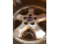 Alloys Wheels - BBS / Saab / Vauxhall. 5 Stud. 16inch. Tyres.