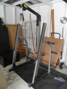 Nautilus Half Rack Home Gym with Pull tower Excellent Condition