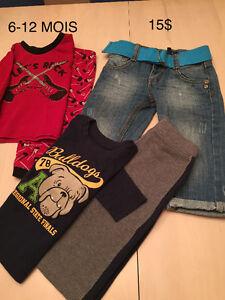 Vêtements 6-12 mois