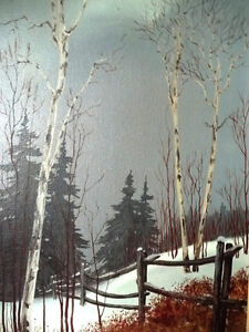 "Snowy Forest Landscape by Hilkka Pellikka ""The Evening Storm"" Stratford Kitchener Area image 3"