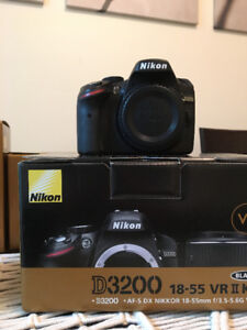Nikon D3200 (body only) - mint condition - $300