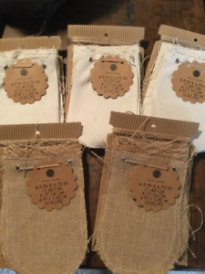 Canvas and Burlap banners