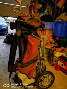 Full set of Golf Clubs and Cart