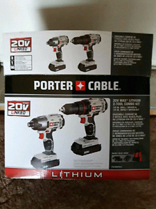 Porter Cable 20volt drill/ impact combo