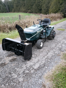 CRAFTSMAN LAWN TRACTOR WITH SNOWBLOWER*WORKS GREAT!!