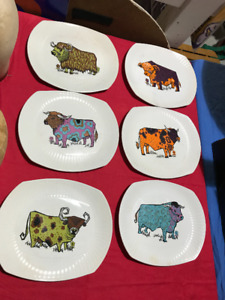 6 PLATE SET OF BEEFEATER ENGLISH IRONSTONE POTTERY STAFFORDSHIRE