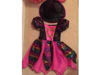 Girls witch costume age 2-3