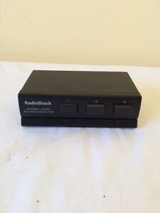 Radio Shack 3 Component Stereo Audio Source Line Selector