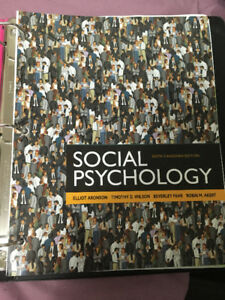Social psychology aronson kijiji in ontario buy sell save social psychology sixth canadian edition textbook fandeluxe Gallery