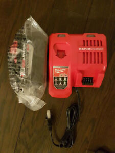 Brand New Milwaukee M18 9.0ah battery and Rapid Charger