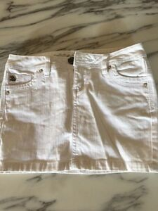 Jupe jeans blanche foxy
