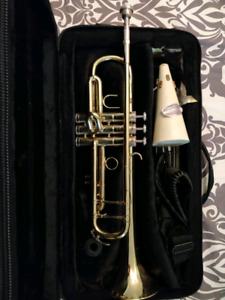 Trumpet with music stand