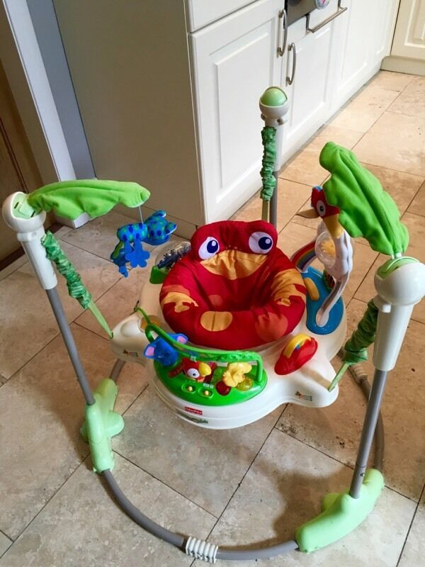Fisher Price Rainforest Jumperoo Boxed With Instructions In