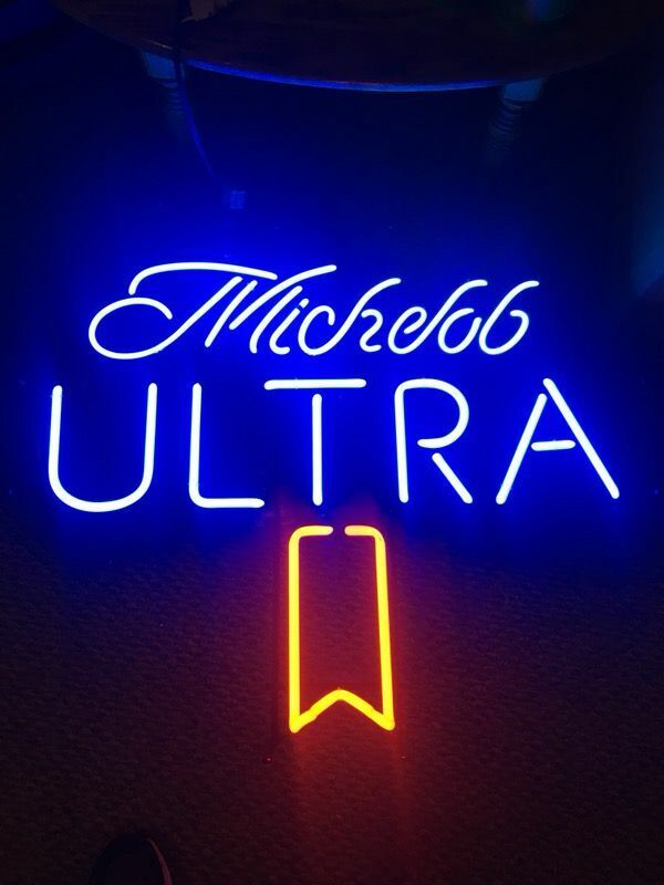 "New Michelob Ultra Beer Neon Light Sign 14""x14"" Lamp Display Glass Decor Windows"