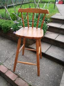 Pine stool.