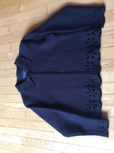 women's navy blue Catherine Stewart wool jacket