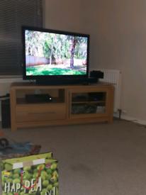 Oak effect TV unit and display unit