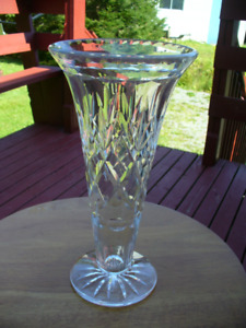 Crystal Vase  12  inches Tall  &  Top Opening  6 inch