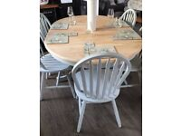 Shabby chic pine dining table and chairs NEED GOND BY SATURDAY