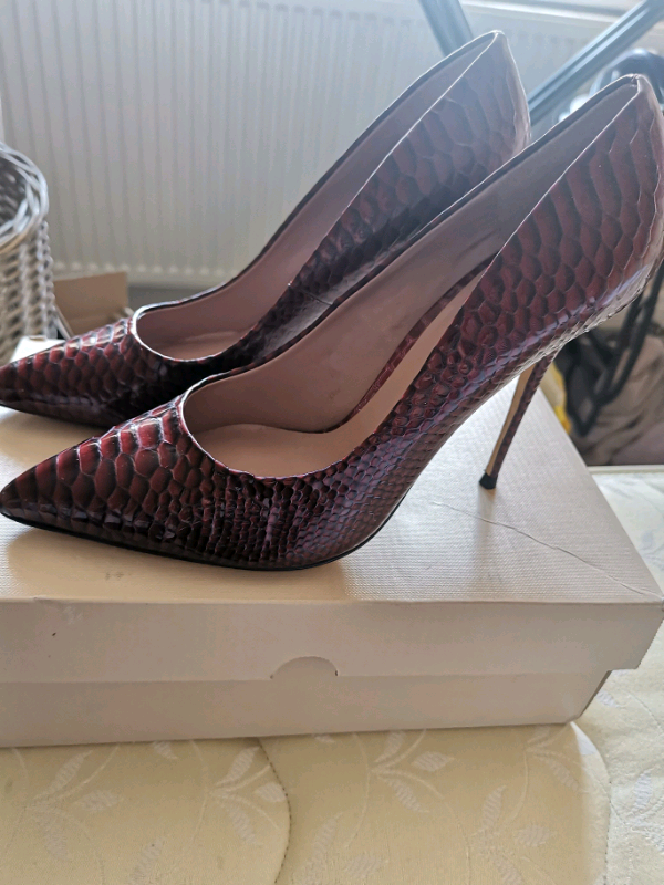 588045ec33d BNIB Dune oxblood snakeskin patent leather shoes size 41 | in Wigginton,  North Yorkshire | Gumtree