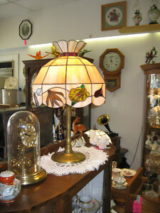 Lead Glass Shade Brass Kamp -- FROM PAST TIMES Antiques & Coll Regina Regina Area image 2