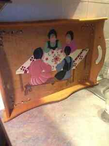 Mennonite Painted Wooden Tray from St. Jacobs Ontario Kitchener / Waterloo Kitchener Area image 2