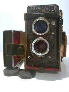 Yashica Mat 124 G 35 mm Film Camera with Hard Case and hood.