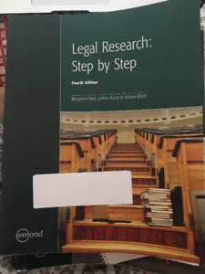 Legal Research: Step by Step 4th Edition