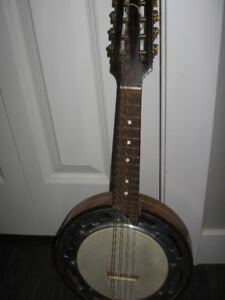 1950's era mandolin-banjo, in excellent condition.