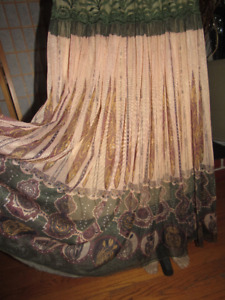 Lot of 2 Women Quality Flared & Pleated Maxi Skirt $12.99Each