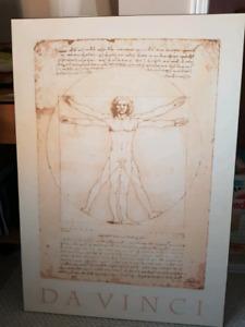 Large print laminated on wooden frame