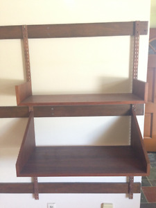 Mid century Wall Mounted Shelving unit
