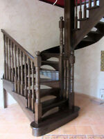 European quality wooden stairs and railing