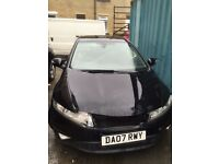 Damaged Honda Civic i-Vtech 1.8 2007 lpg gas converted