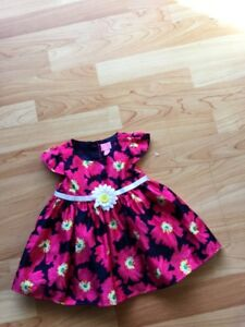 Dress 6-9 months Pink and Navy - Childrens Place, $10