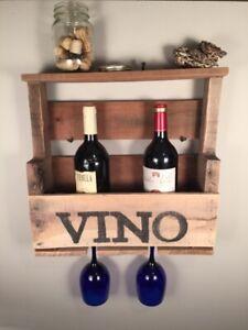 Rack a vin rustique